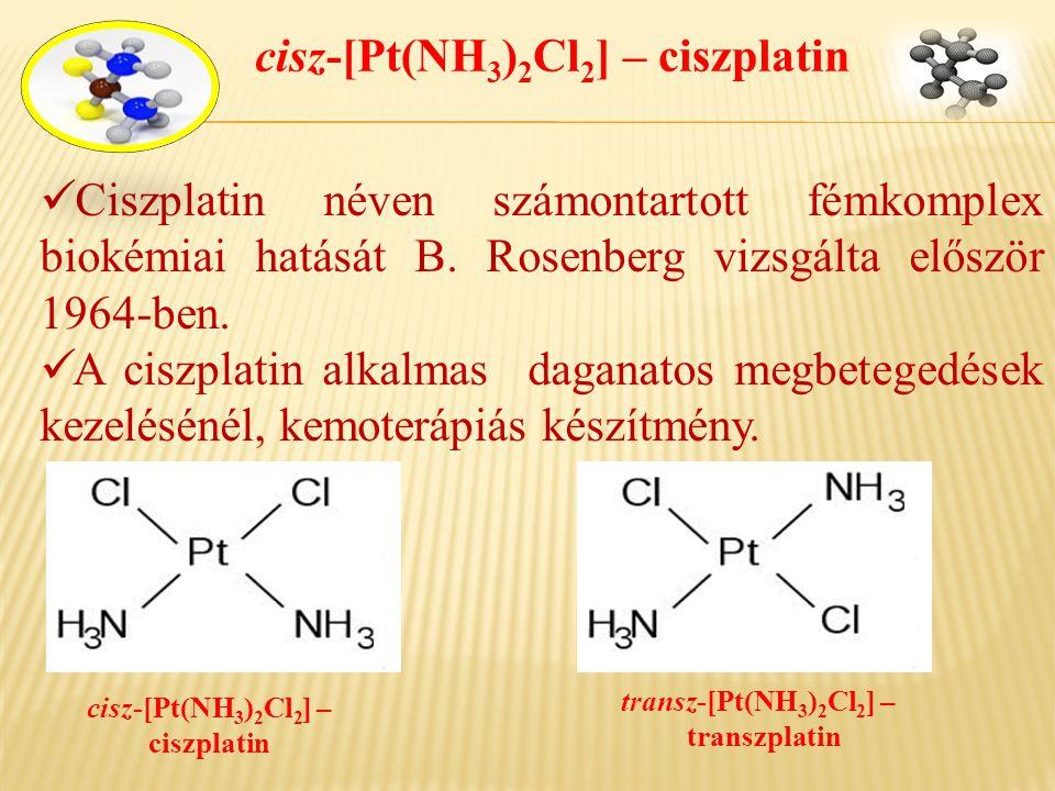 cisz-[Pt(NH3)2Cl2] – ciszplatin cisz-[Pt(NH3)2Cl2] –ciszplatin